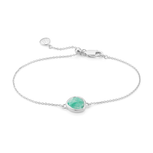 Siren Fine Chain Bracelet - Amazonite - Monica Vinader