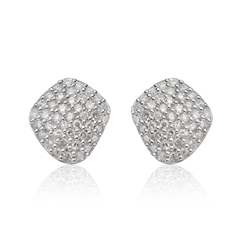 Rose Gold Vermeil Nura Nugget Stud Diamond Earrings - Diamond - Monica Vinader