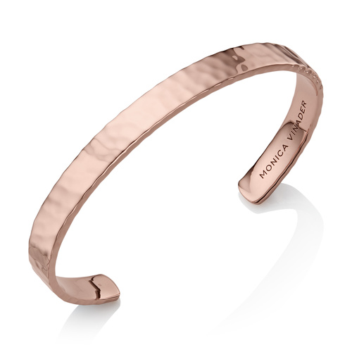 Rose Gold Vermeil Alta Rectangle Cuff - Monica Vinader