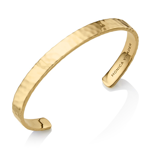 Gold Vermeil Alta Rectangle Cuff - Monica Vinader