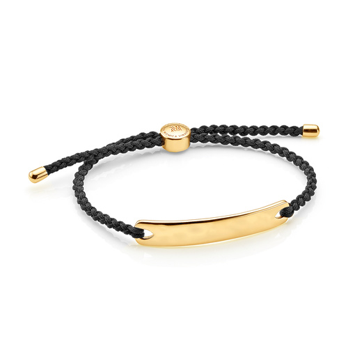 Gold Vermeil Havana Men S Friendship Bracelet Black Monica Vinader