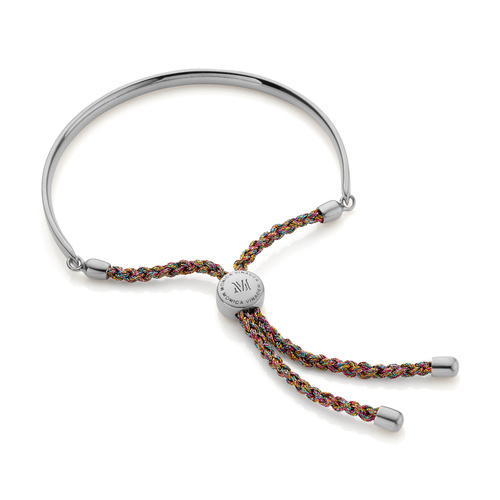 Sterling Silver Fiji Friendship Bracelet - Rainbow Metallica - Monica Vinader