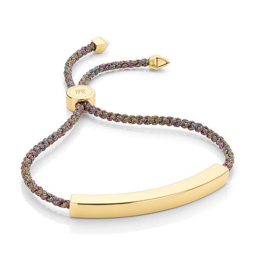 Gold Vermeil Linear Large Friendship Bracelet - Women's - Rainbow Metallica - Monica Vinader