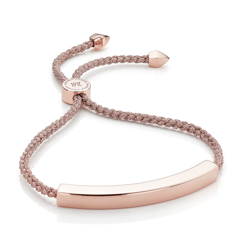 Rose Gold Vermeil Linear Large Friendship Bracelet - Women's - Rose Gold Metallica - Monica Vinader