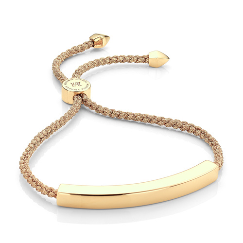 Gold Vermeil Linear Large Friendship Bracelet - Women's - Gold Metallica - Monica Vinader