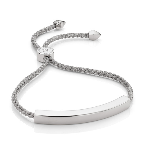Sterling Silver Linear Large Friendship Bracelet - Women's - Silver Metallica - Monica Vinader
