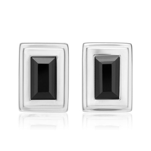 Baja Deco Stud Earrings - Black Onyx - Monica Vinader