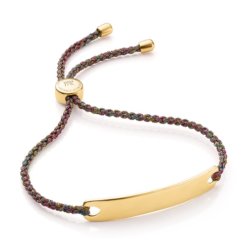 Gold Vermeil Havana Friendship Bracelet - Rainbow Metallica - Monica Vinader
