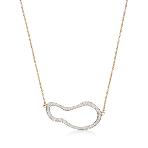 Gold Vermeil Riva Pod Necklace - Diamond - Monica Vinader