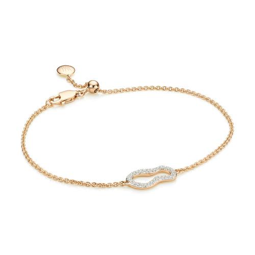 Gold Vermeil Riva Pod Bracelet - Diamond - Monica Vinader