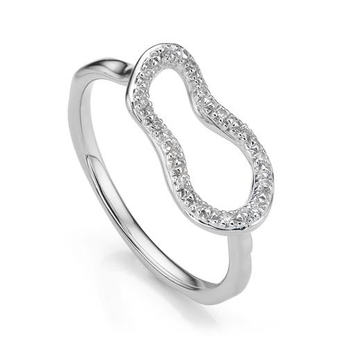 Riva Mini Pod Ring - Diamond - Monica Vinader