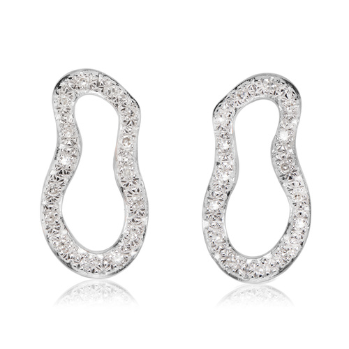 Riva Pod Stud Earrings - Diamond - Monica Vinader