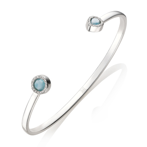 Naida Thin Cuff - Medium - Larimar - Monica Vinader