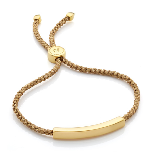 Gold Vermeil Linear Friendship Bracelet - Gold Metallica - Monica Vinader