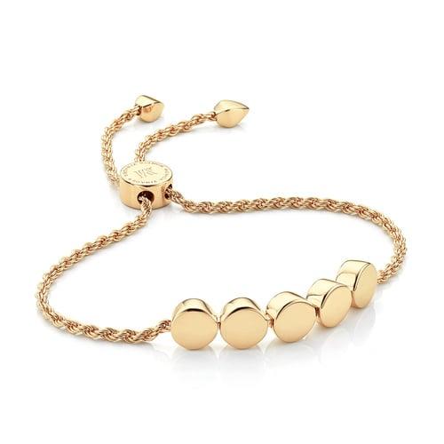 Gold Vermeil Linear Bead Friendship Chain Bracelet - Monica Vinader