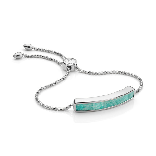 Sterling Silver Baja Bracelet - Amazonite - Monica Vinader