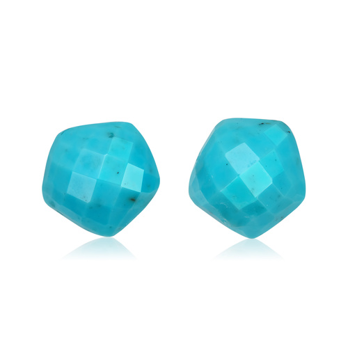 Rose Gold Vermeil Nura Nugget Stud Earrings - Turquoise - Monica Vinader