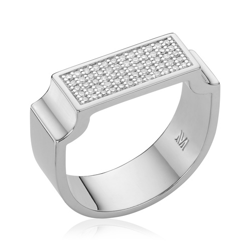 Signature Wide Ring - Diamond - Monica Vinader