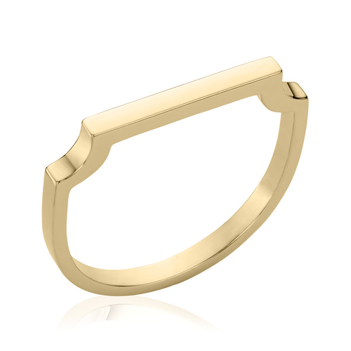 Gold Vermeil Signature Thin Ring - Monica Vinader