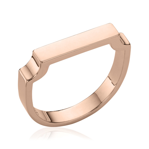 Rose Gold Vermeil Signature Ring - Monica Vinader