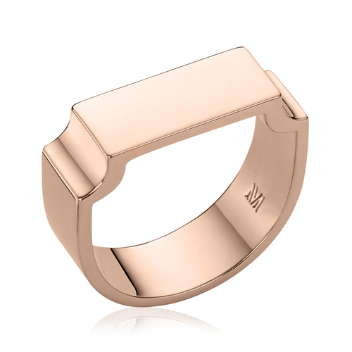 Rose Gold Vermeil Signature Wide Ring - Monica Vinader