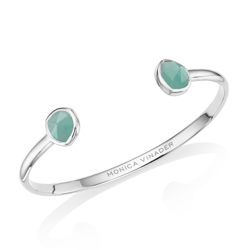 Siren Thin Cuff - Large - Amazonite - Monica Vinader