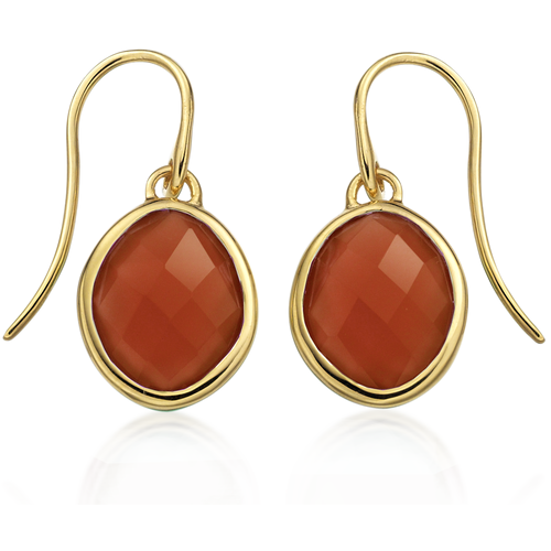 Gold Vermeil Small Nugget Earrings - Carnelian - Monica Vinader
