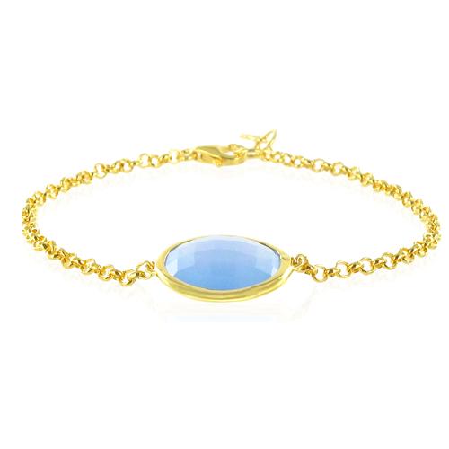 Gold Vermeil Luna Bracelet - No stone - Monica Vinader