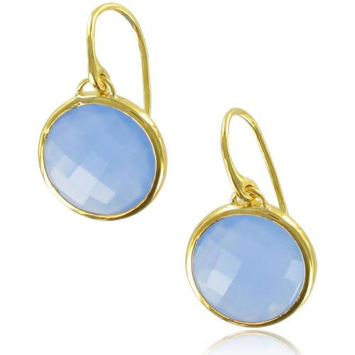 Gold Vermeil Luna Wire Earrings - No stone - Monica Vinader