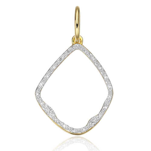Gold Vermeil Riva Diamond Hoop Pendant - Diamond - Monica Vinader