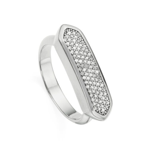 Sterling Silver Baja Diamond Ring - Diamond - Monica Vinader