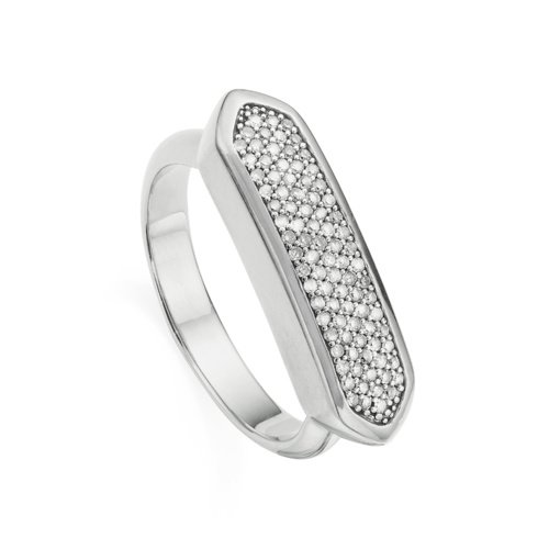 Baja Diamond Ring - Diamond - Monica Vinader