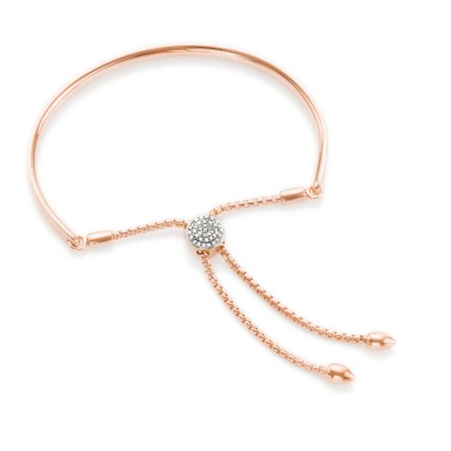 Rose Gold Vermeil Fiji Diamond Toggle Bracelet Monica Vinader