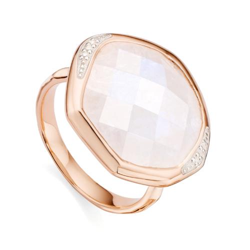 Rose Gold Vermeil Riva Diamond Cocktail Ring - Moonstone - Monica Vinader