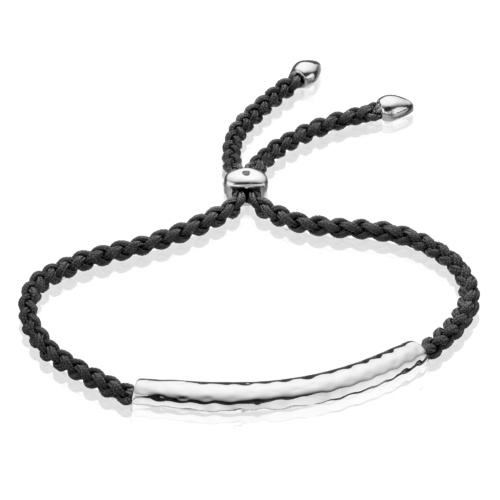 Esencia Friendship Bracelet - Black Spinel - Monica Vinader