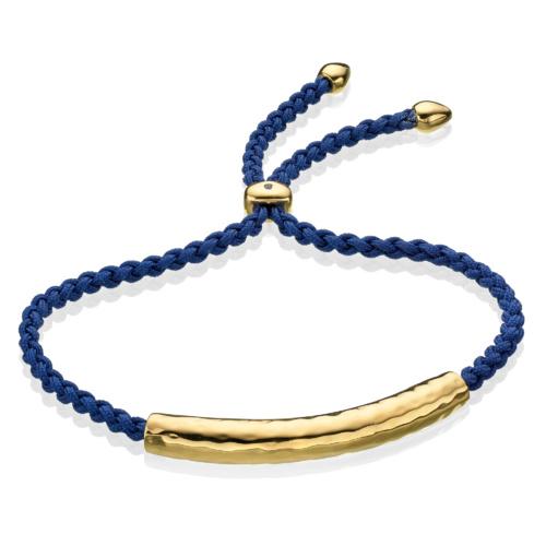 Gold Vermeil Esencia Friendship Bracelet - Iolite - Monica Vinader