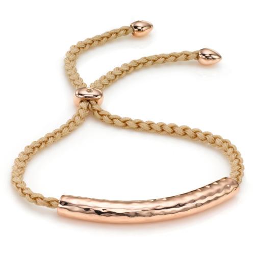 Rose Gold Vermeil Esencia Friendship Bracelet - Nude - Monica Vinader