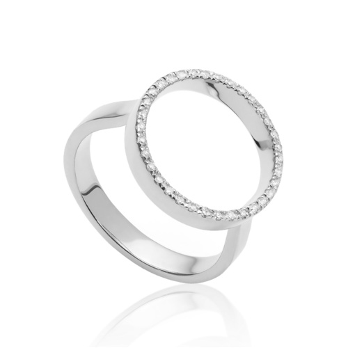 Naida Circle Open Ring - Diamond