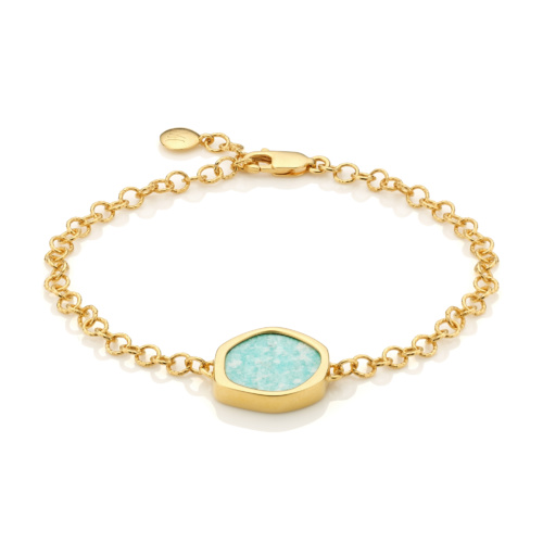 Gold Vermeil Atlantis Gem Bracelet - Amazonite
