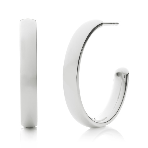 Fiji Large Hoop Earrings - Monica Vinader