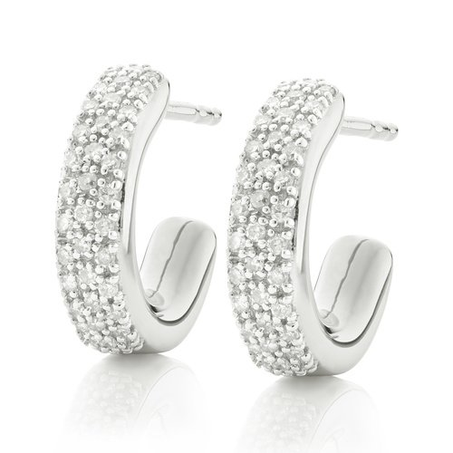 Fiji Mini Hoop Diamond Earrings - Diamond - Monica Vinader