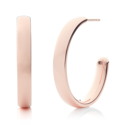 Rose Gold Vermeil Fiji Large Hoop Earrings - Monica Vinader