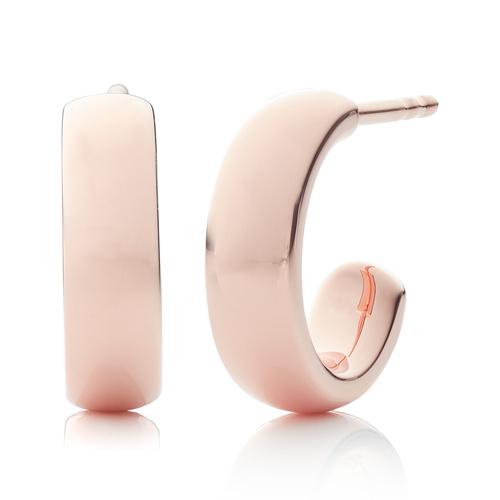 Rose Gold Vermeil Fiji Mini Hoop Earrings - Monica Vinader