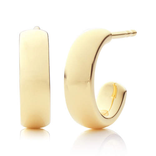 Gold Vermeil Fiji Mini Hoop Earrings - Monica Vinader