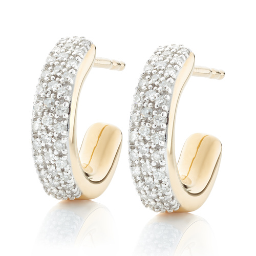 Gold Vermeil Fiji Mini Hoop Diamond Earrings - Diamond - Monica Vinader