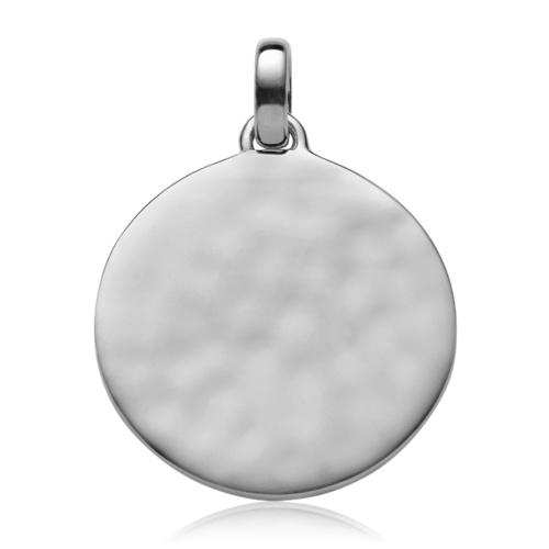 Siren Medium Round Pendant - Silver - Monica Vinader