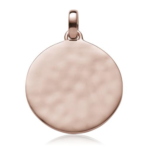 Rose Gold Vermeil Siren Medium Round Pendant - Monica Vinader