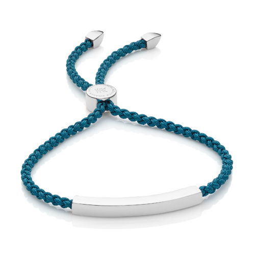 Linear Friendship Bracelet - Mallard Blue Cord