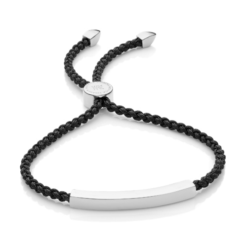 Linear Friendship Bracelet - Black Cord