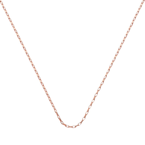 Rose Gold Vermeil Fine Open Link Chain - 30
